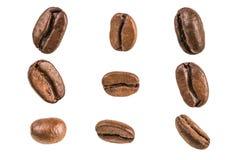 белизна кофе фасоли предпосылки Стоковая Фотография RF