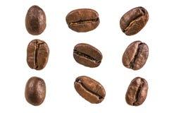 белизна кофе фасоли предпосылки Стоковые Фото
