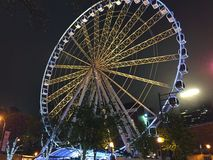 Белизна колеса Атланты Ferris Стоковое фото RF