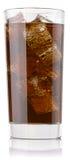 белизна колы предпосылки изолированная стеклом Стоковые Фотографии RF