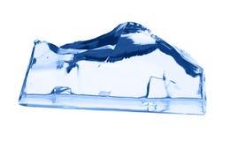 белизна кубика изолированная льдом Стоковое Изображение RF