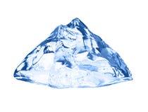 белизна кубика изолированная льдом Стоковые Изображения