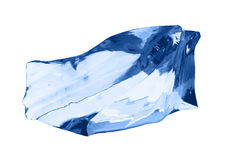 белизна кубика изолированная льдом Стоковые Фото