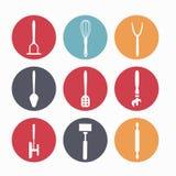 белизна кухни иллюстрации предпосылки приборов Стоковые Изображения