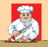 белизна кухни предпосылки изолированная шеф-поваром Стоковое Фото