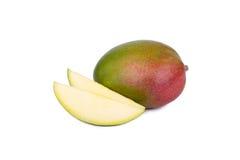 белизна мангоа свежих фруктов изолированная Стоковое Фото