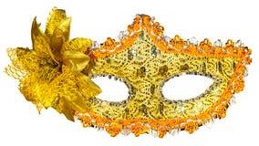 белизна маски масленицы предпосылки золотистая Стоковые Фото