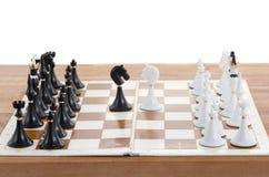 Белизна мата наносит поражение черному королю Стоковые Фото