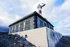 белизна маяка красная Стоковое Изображение