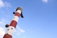 белизна маяка красная Стоковая Фотография