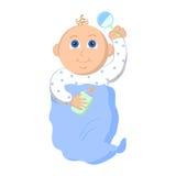 белизна мальчика предпосылки младенца Стоковое Фото