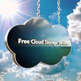 белизна модели иконы облака 3d Стоковые Фото