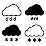белизна модели иконы облака 3d Иллюстрация вектора