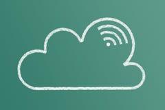 белизна модели иконы облака 3d Стоковые Фотографии RF