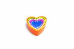 белизна модели сердца предпосылки 3d Стоковые Изображения RF