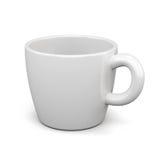 белизна модели чашки предпосылки 3d 3d представляют цилиндры image Стоковая Фотография