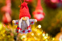 белизна настроения 3 шариков изолированная рождеством Стоковое Фото