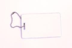 белизна обеспеченностью пустой карточки изолированная Стоковое Фото