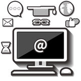 белизна образования предпосылки изолированная иконой установленная Стоковые Фото