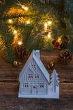 белизна дома рождества Стоковые Фото