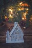 белизна дома рождества Стоковая Фотография
