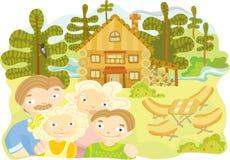 белизна дома семьи предпосылки 3d изолированная иллюстрацией Стоковое Изображение RF