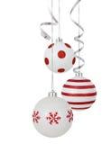 белизна орнамента рождества Стоковое Изображение RF