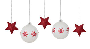 белизна орнамента рождества Стоковое Фото
