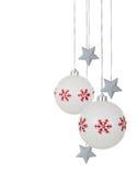 белизна орнамента рождества Стоковые Фотографии RF
