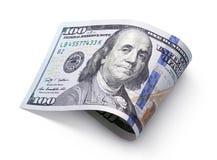 белизна доллара 100 счета Стоковая Фотография RF