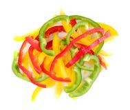 белизна перца предпосылки изолированная колоколом Стоковое Изображение