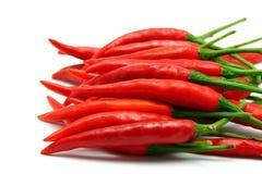 белизна перцев chili предпосылки красная Стоковая Фотография