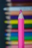 белизна пинка карандаша 3d Стоковые Изображения