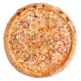 белизна пиццы pepperoni кухни предпосылки итальянская Это изображение совершенно для вас для того чтобы конструировать ваши меню  Стоковые Фотографии RF