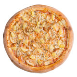 белизна пиццы pepperoni кухни предпосылки итальянская Это изображение совершенно для вас для того чтобы конструировать ваши меню  Стоковая Фотография