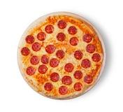 белизна пиццы pepperoni кухни предпосылки итальянская Стоковая Фотография RF