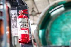 белизна пожара гасителя предпосылки 3d изолированная изображением Стоковые Изображения RF