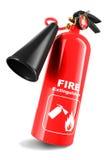 белизна пожара гасителя предпосылки 3d изолированная изображением Стоковое Изображение RF