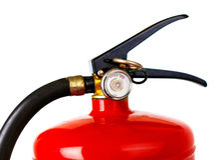 белизна пожара гасителя предпосылки 3d изолированная изображением Стоковое Изображение
