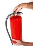 белизна пожара гасителя предпосылки 3d изолированная изображением Стоковая Фотография RF