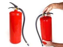 белизна пожара гасителя предпосылки 3d изолированная изображением Стоковые Изображения