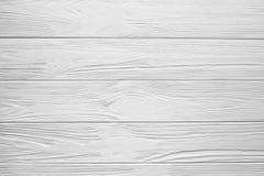 Белизна покрасила деревянные текстуру, предпосылку и обои Стоковые Фото