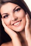 белизна портрета девушки предпосылки красивейшая Стоковое Изображение