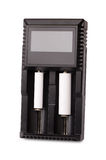 белизна предмета заряжателя батареи предпосылки изолированная Стоковые Изображения