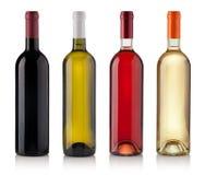 белизна предпосылки изолированная бутылками установленная Стоковые Изображения