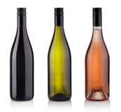 белизна предпосылки изолированная бутылками установленная Стоковые Фотографии RF