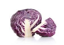 белизна предпосылки изолированная капустой пурпуровая стоковое фото rf