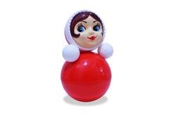 белизна предпосылки изолированная куклой поли roly Стоковая Фотография RF