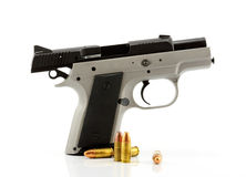 белизна предпосылки изолированная пушкой Стоковое фото RF