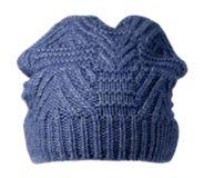 белизна предпосылки изолированная шлемом связанный шлем голубой шлем Стоковые Изображения RF